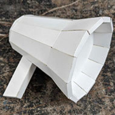 Bullhorn made of paper