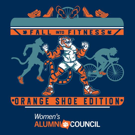 Clemson Women's Alumni Counci Fall into Fitness Orange Shoe Edition