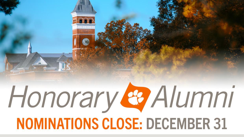 Honorary Alumni Nominations Close December 31
