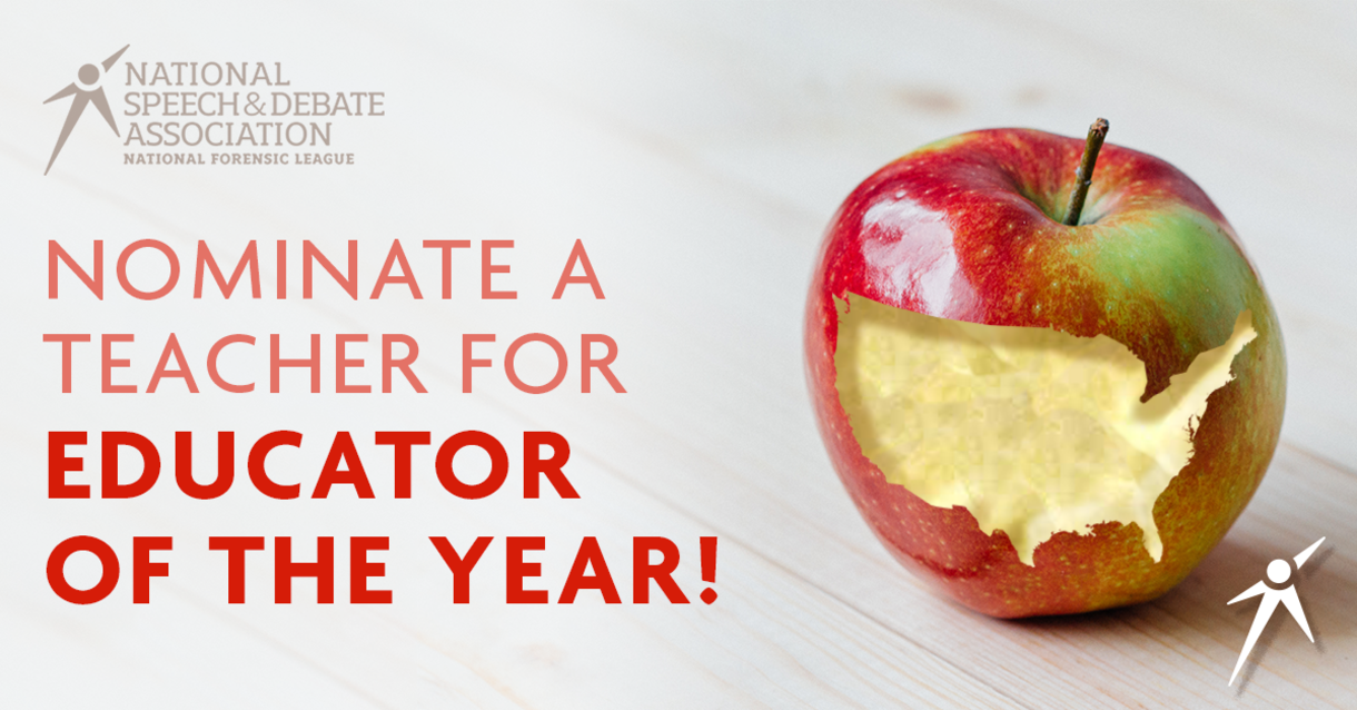 Nominate a Teacher for Educator of the Year!
