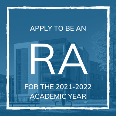 Apply to be an RA for the 2021-2022 Academic Year