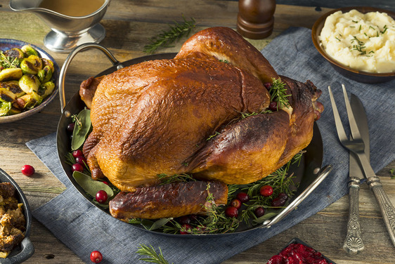 Photo of turkey and mashed potatoes