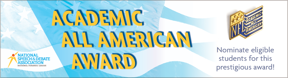 Academic All American Award. Nominate eligible students for this prestigious award!