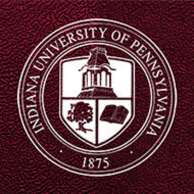 closeup of IUP seal on textured background