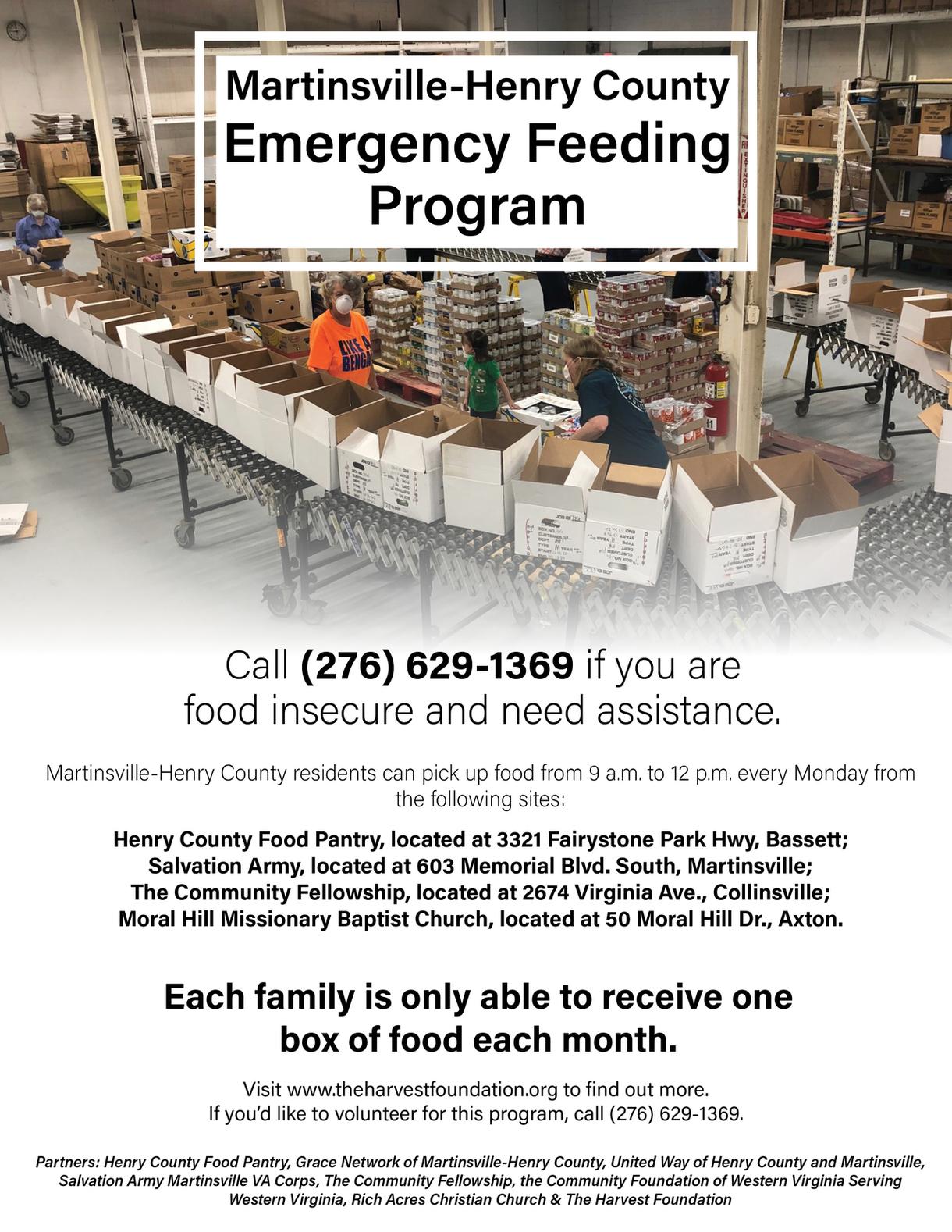 MHC Emergency Feeding Program