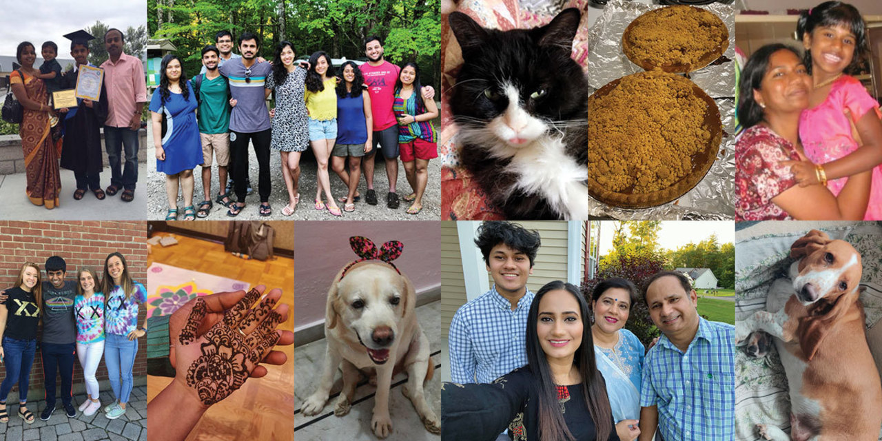 Collage: photos of family, friends, pets, partners, and favorite things