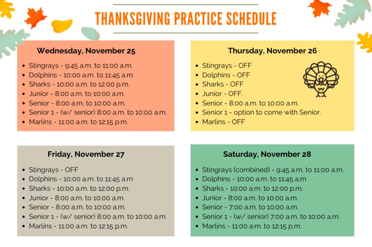 Enlarge Thanksgiving Schedule
