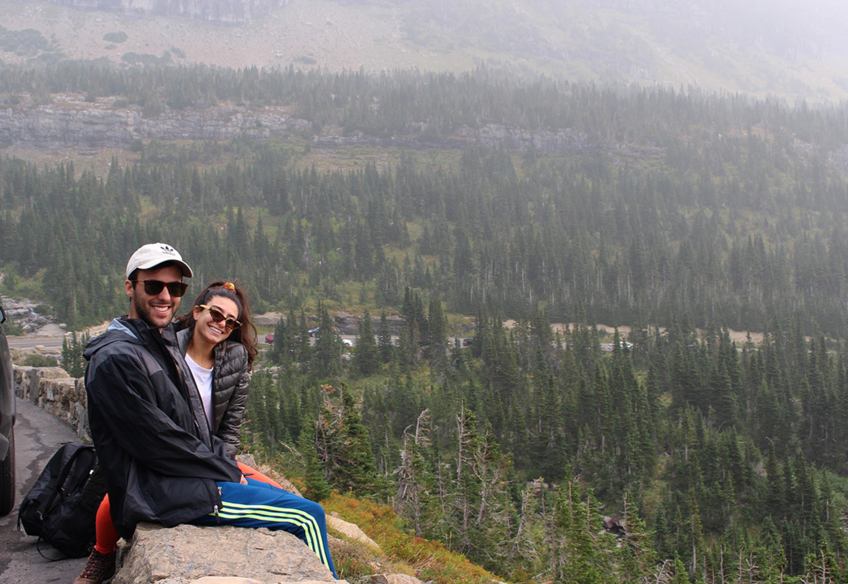Trent and Aiya in Montana