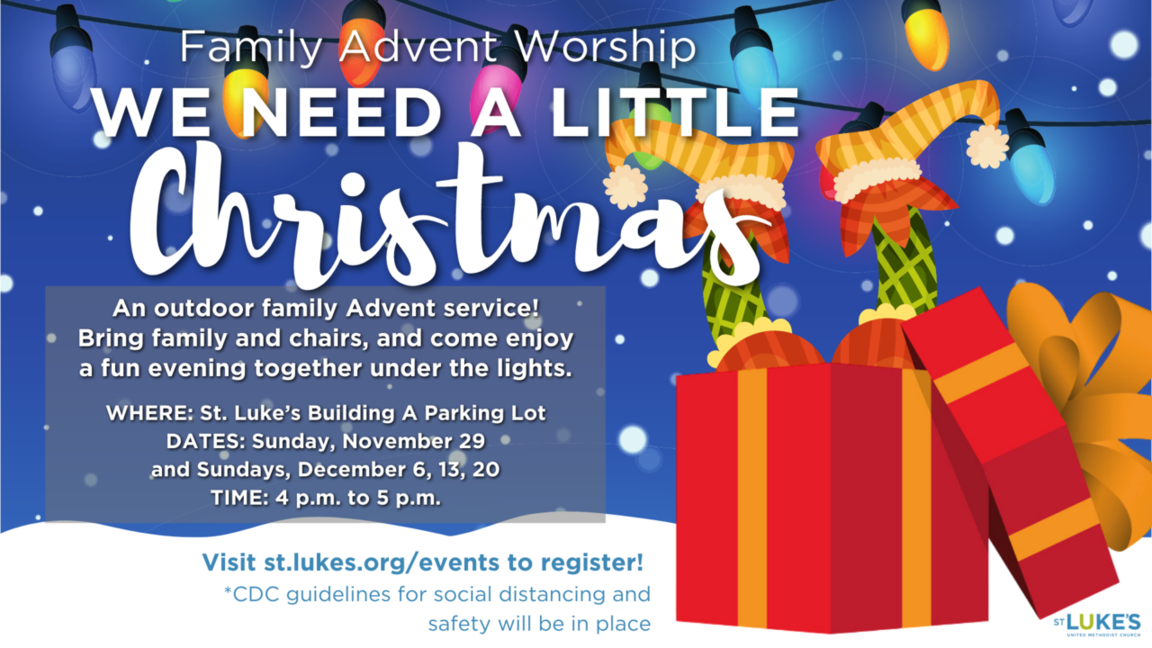 Family Advent worship event webpage link