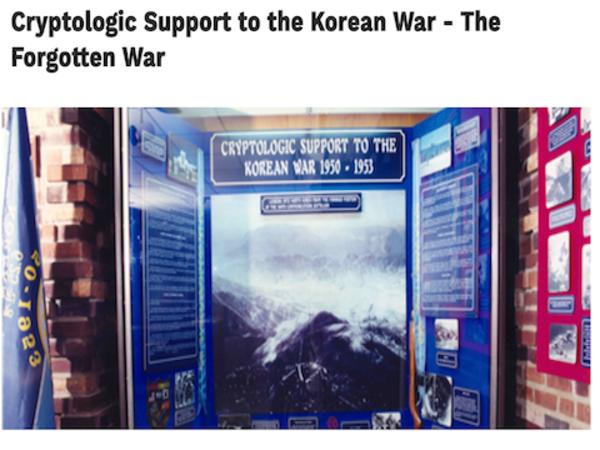 Korean War exhibit on VirMuze