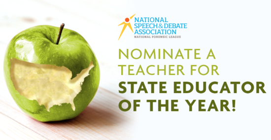 Nominate a Teacher for State Educator of the Year!