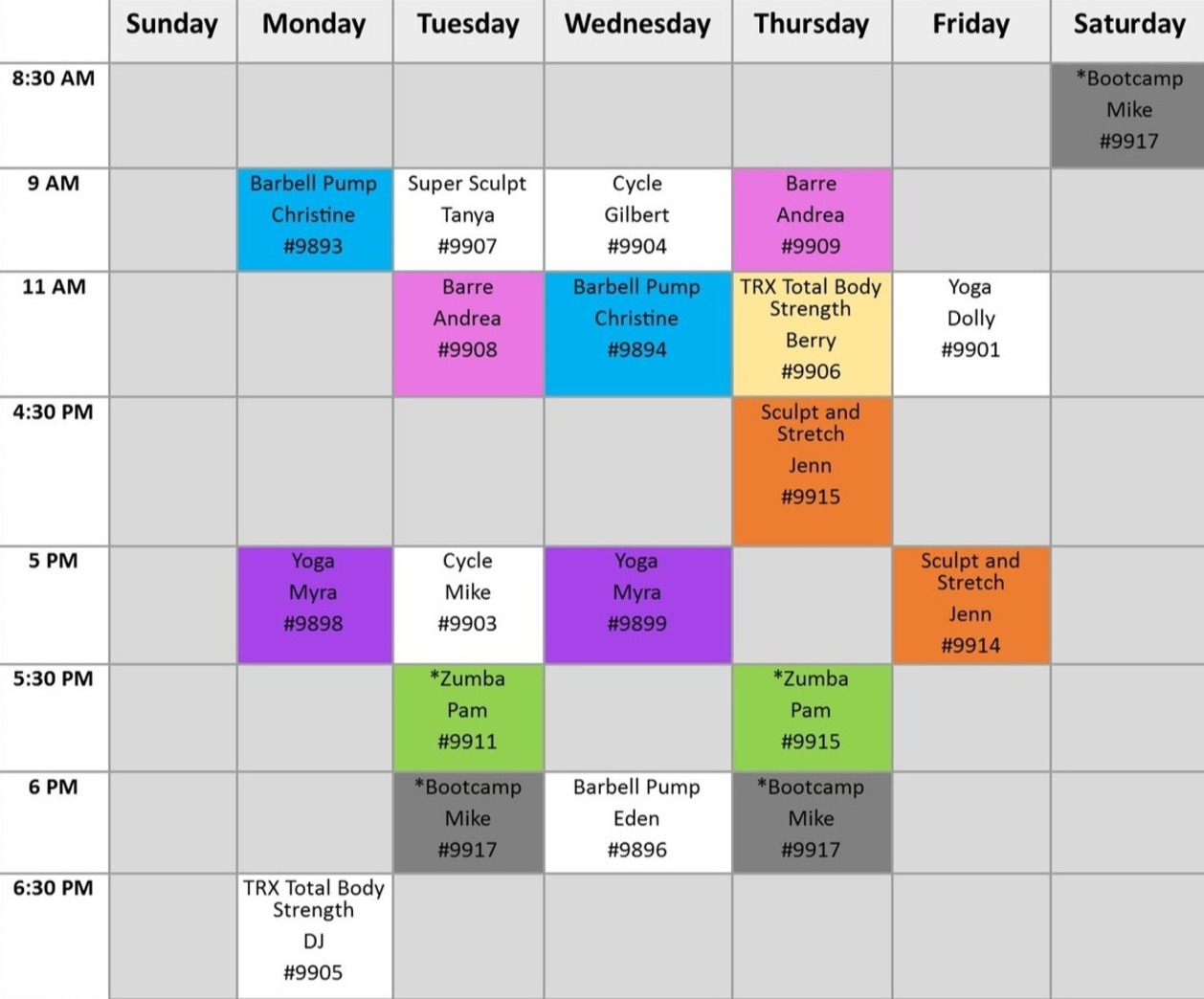 Fitness Series Registration