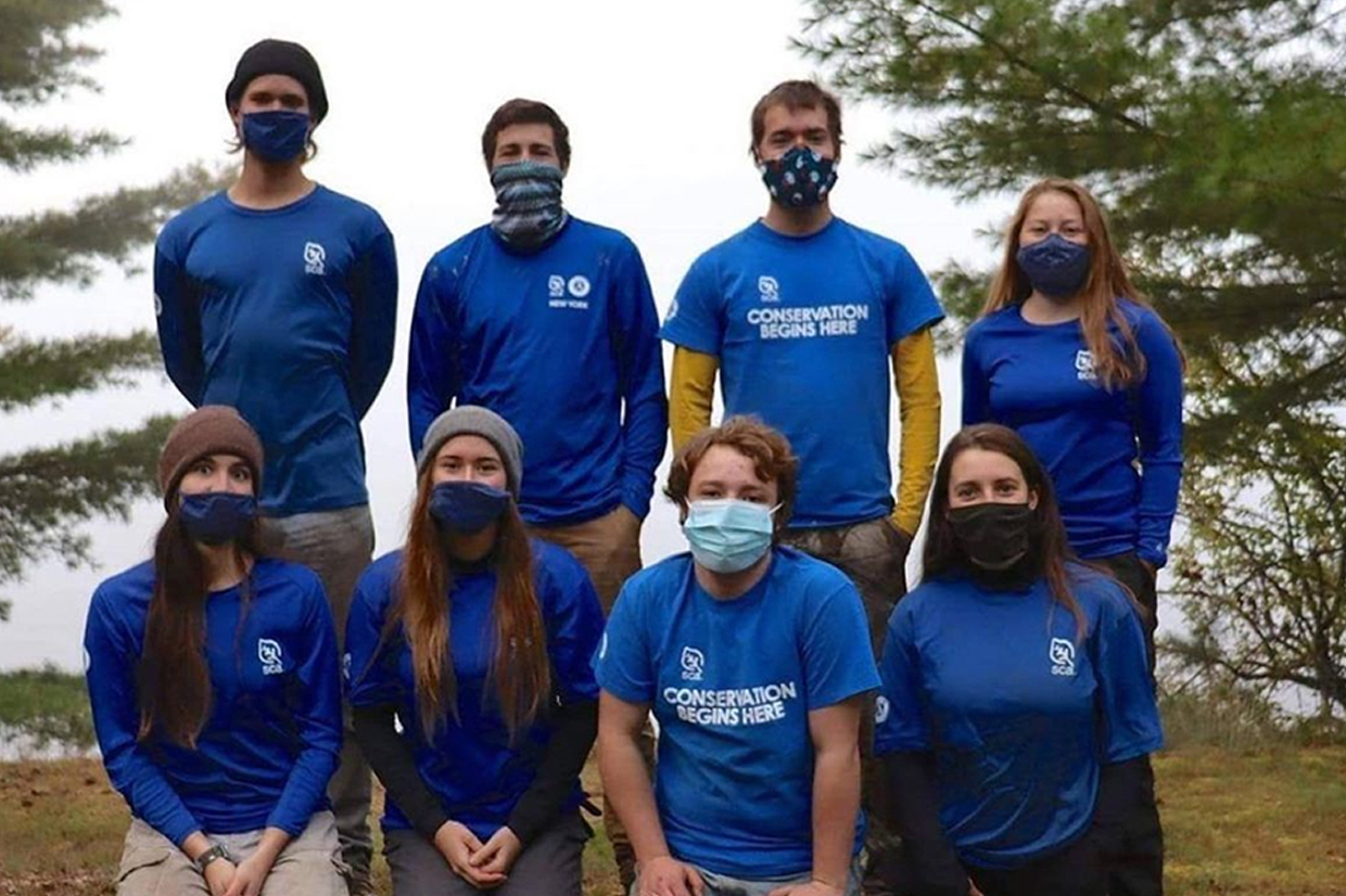 Alumna Kaitlyn Gunter '20 (Biology) is pursuing her career in conversation biology by working for the Student Conservation Association (SCA) Adirondack Corps this fall