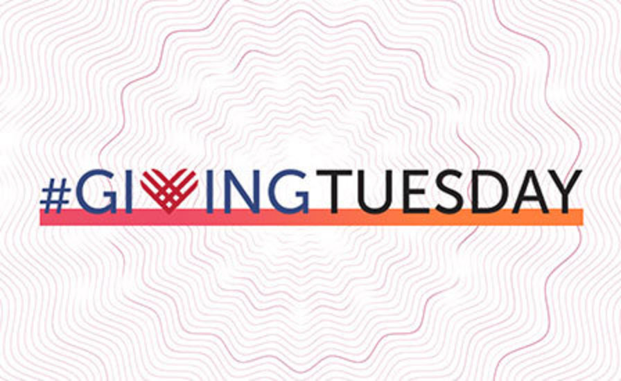 Giving Tuesday words with graphic treatment