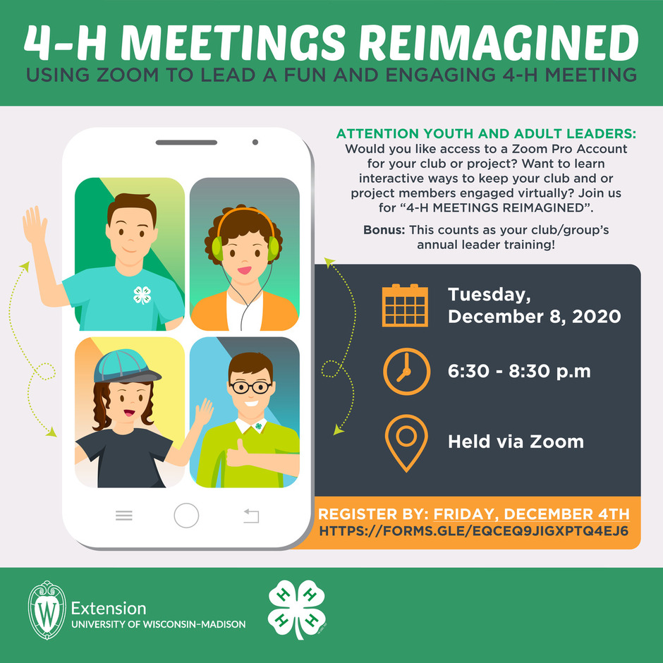 Registration for 4-H meetings reimagined