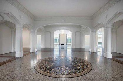 The intriguing Arts & Craft-era tile floor mosaic. IMAGE: RYAN GAMMA