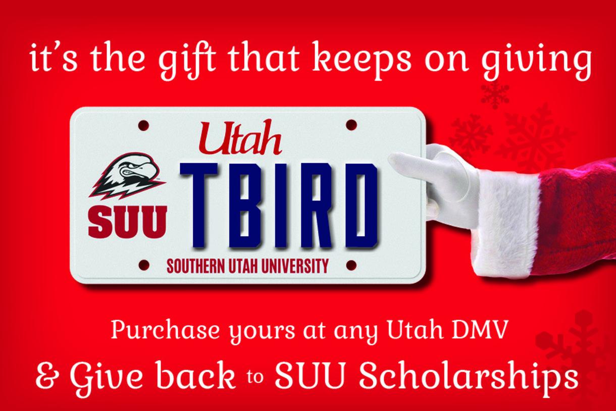SUU Collegiate License Plate