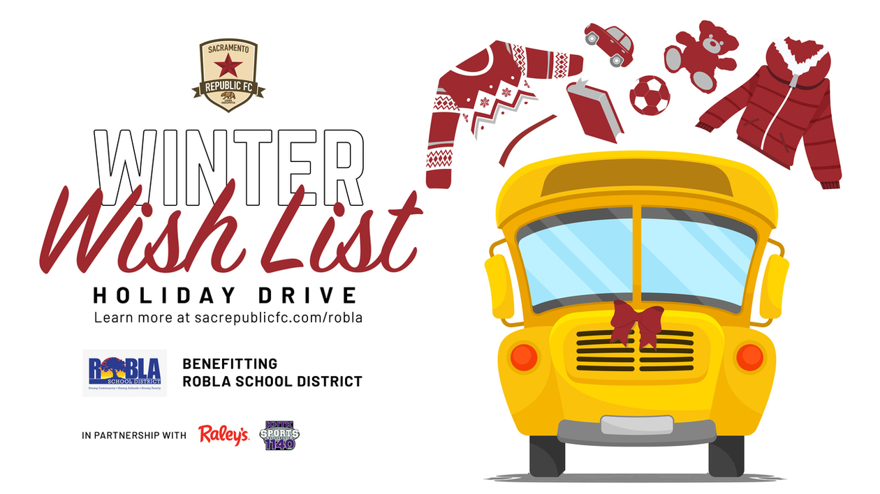 Sacramento Republic FC Winter Wishlist Holiday Drive