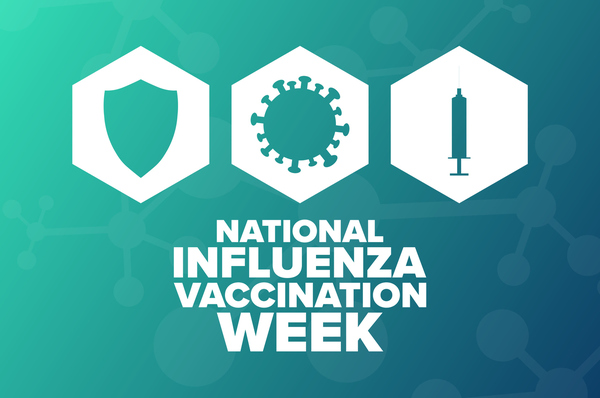 National Influenza Vaccination Week graphic