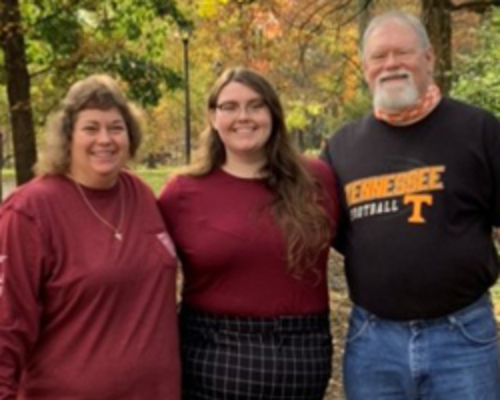 : Keely Williams ('20) is thankful for the support she received from the Academic Success Center, specifically from Derrick Shepard, her academic coach.
