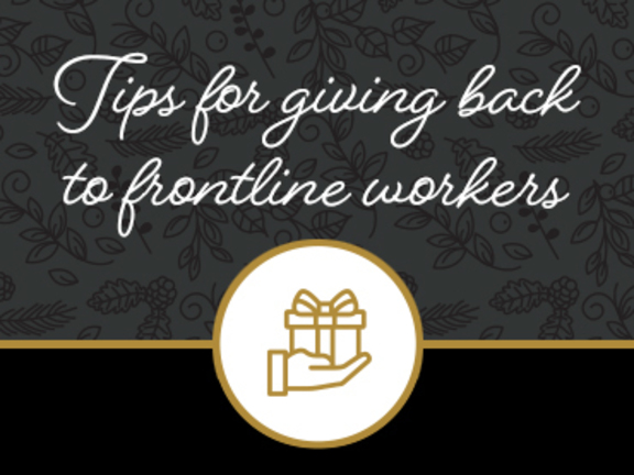 Waypoint's tips for giving back to frontline workers