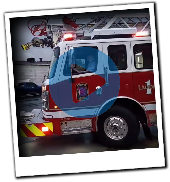 Culver Union Township FD New Aerial Ladder Delivery
