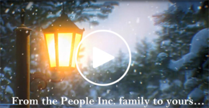 First frame of People Inc. Holiday Video E-card.
