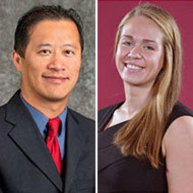 side-by-side headshots of Richard Hsiao and Rachel Johnson