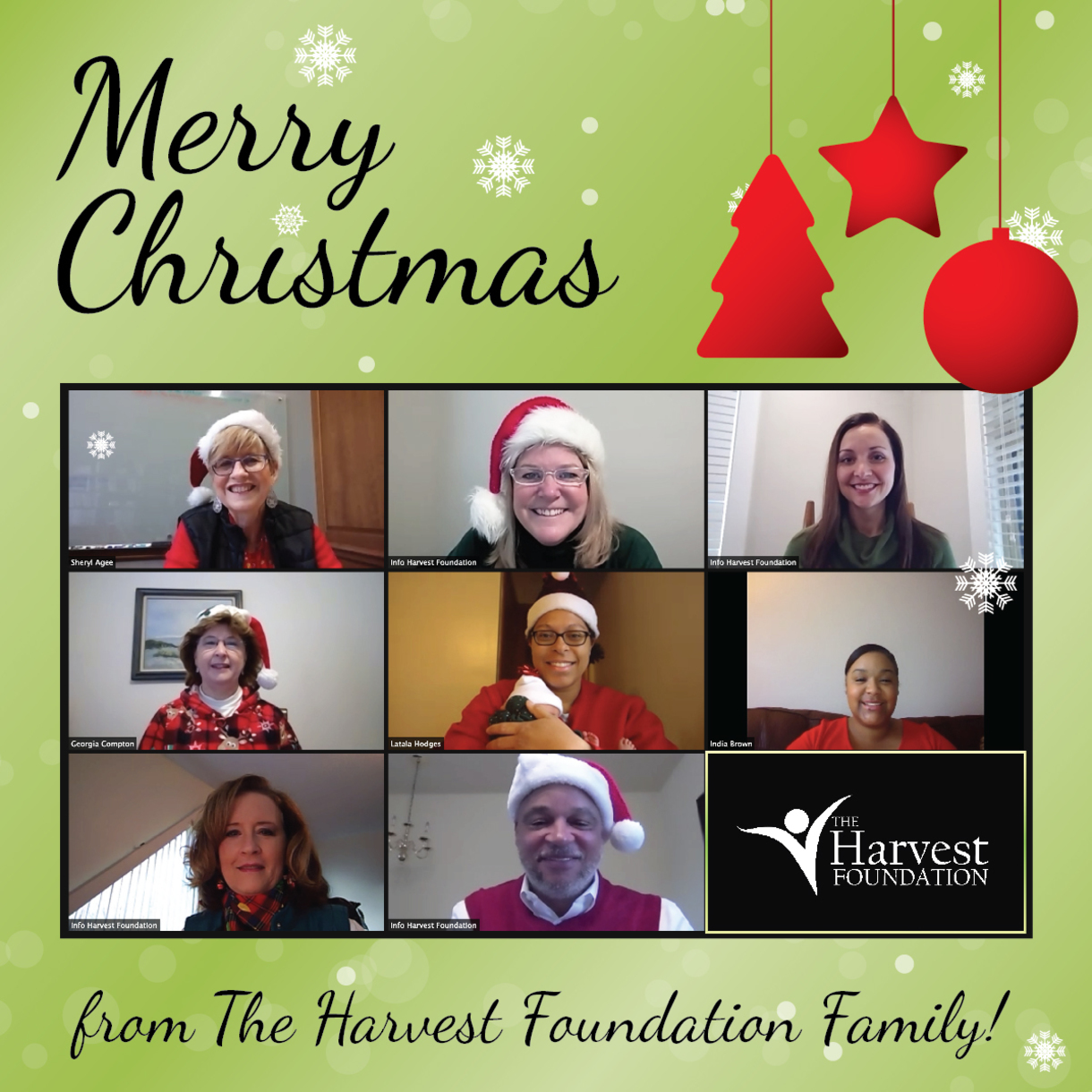 Merry Christmas from The Harvest Foundation