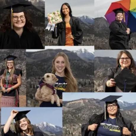 Photo collage of graduating seniors