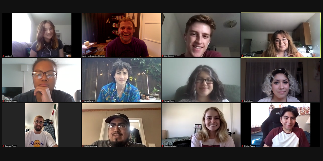 Group photo of Undergraduate Journal Contributors