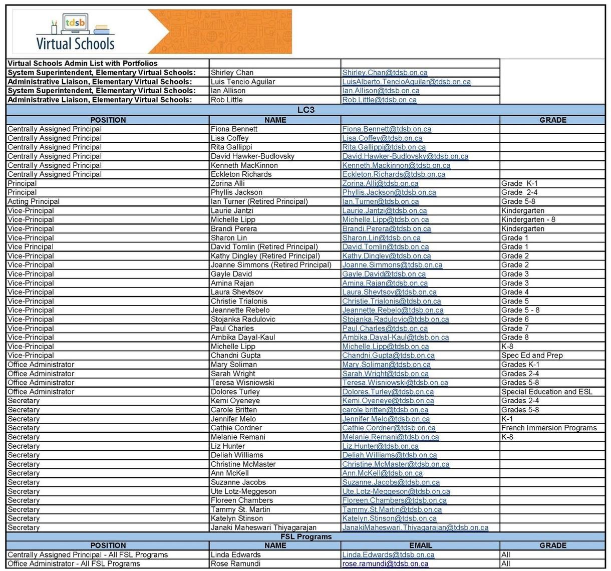LC3 Virtual School Directory