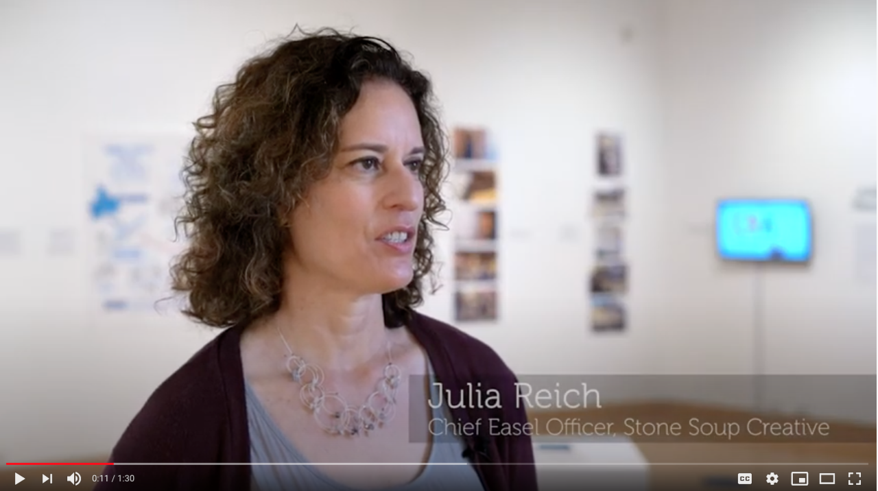 What is Graphic Recording? Julia's interview at the university art gallery