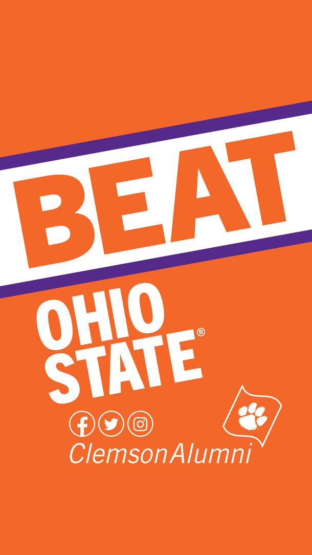 Beat Ohio State ClemsonAlumni