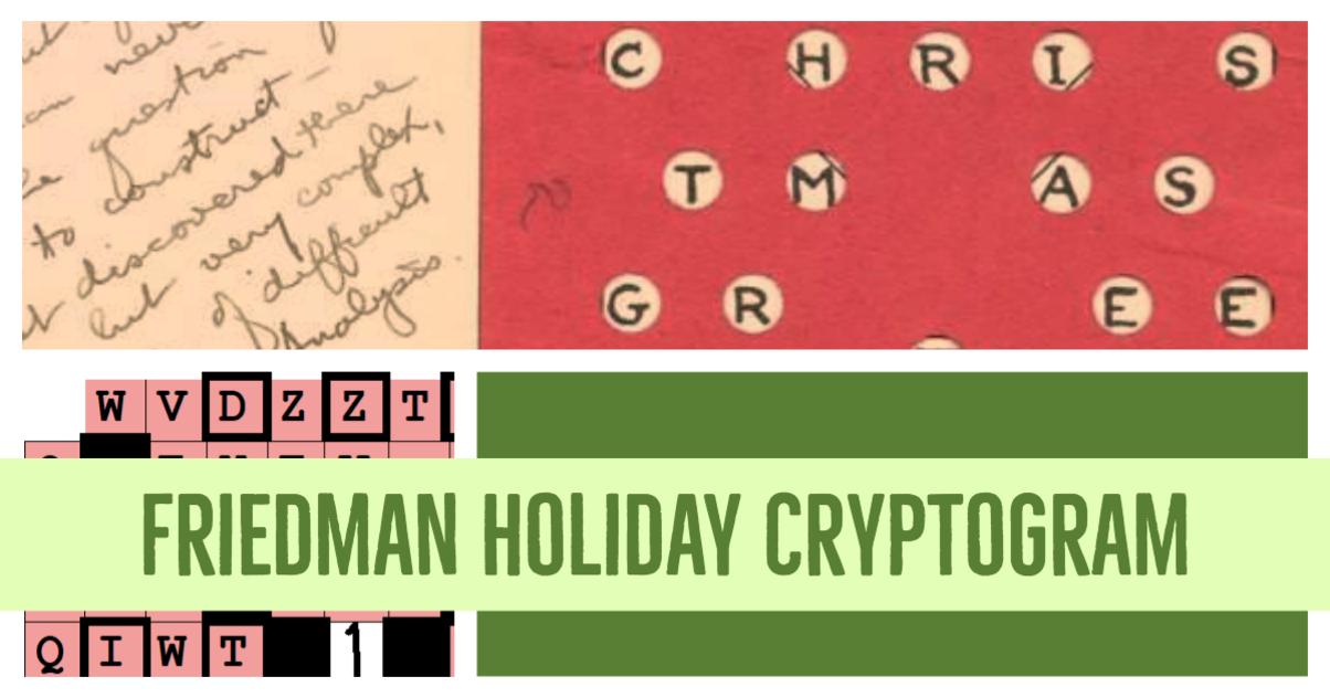 Friedman Holiday Gram