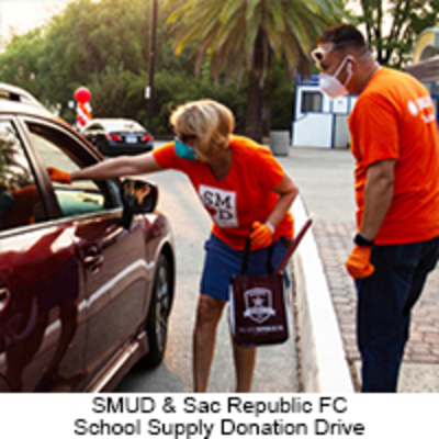 SMUD School Donation Drive with Sac Republic FC