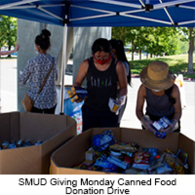 SMUD Giving Monday Canned Food Drive