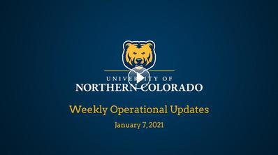 Weekly Operational Updates, Jan. 7