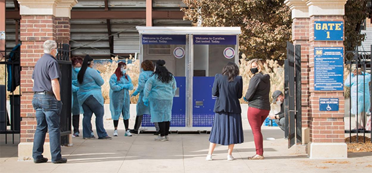 On campus kiosk