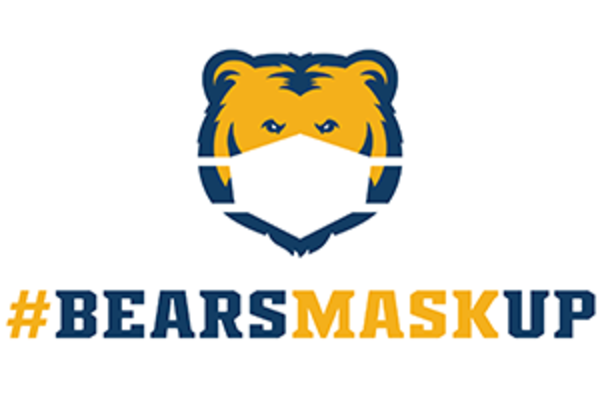 Bears Mask Up graphic