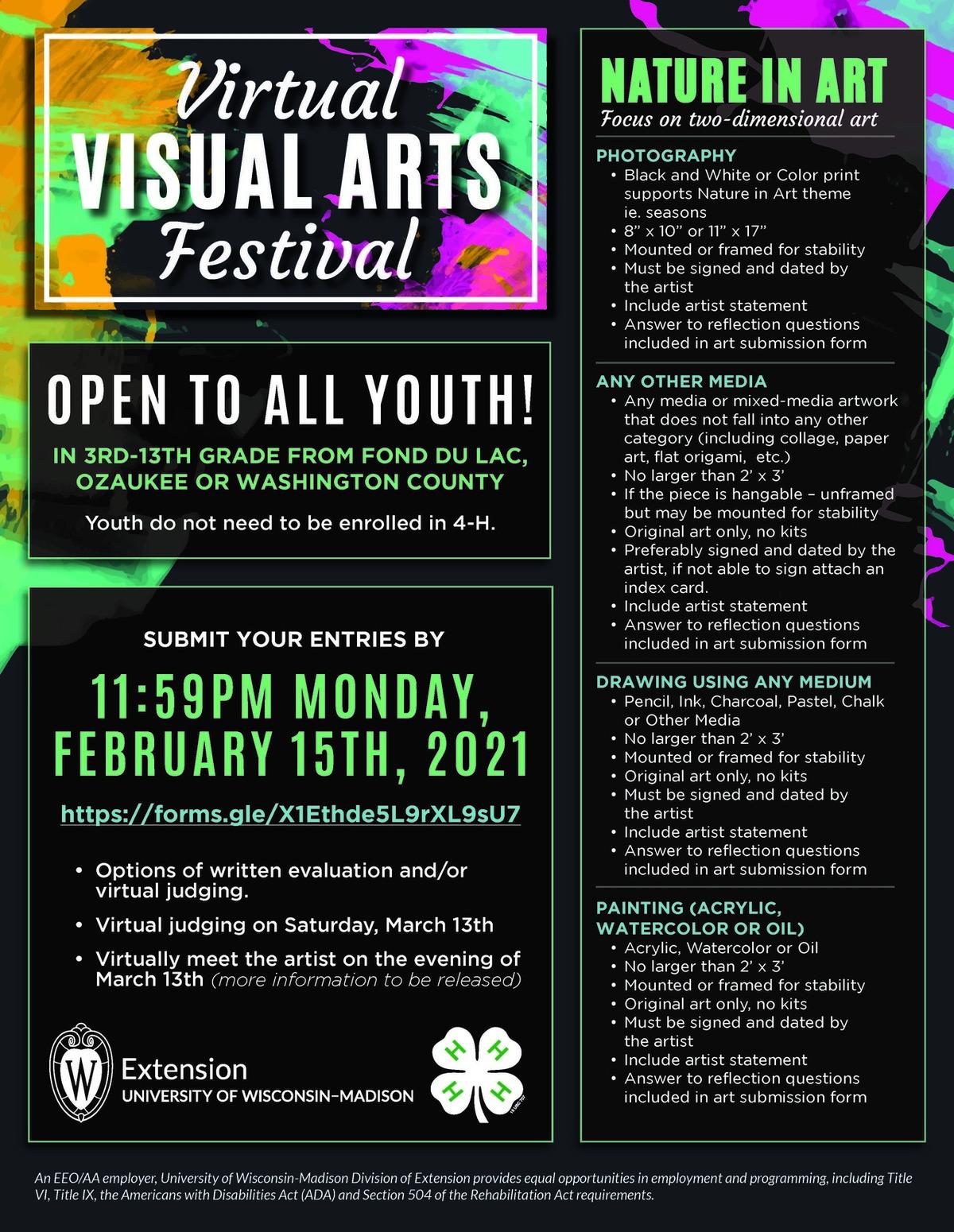 Registration for Virtual Visual Arts Festival