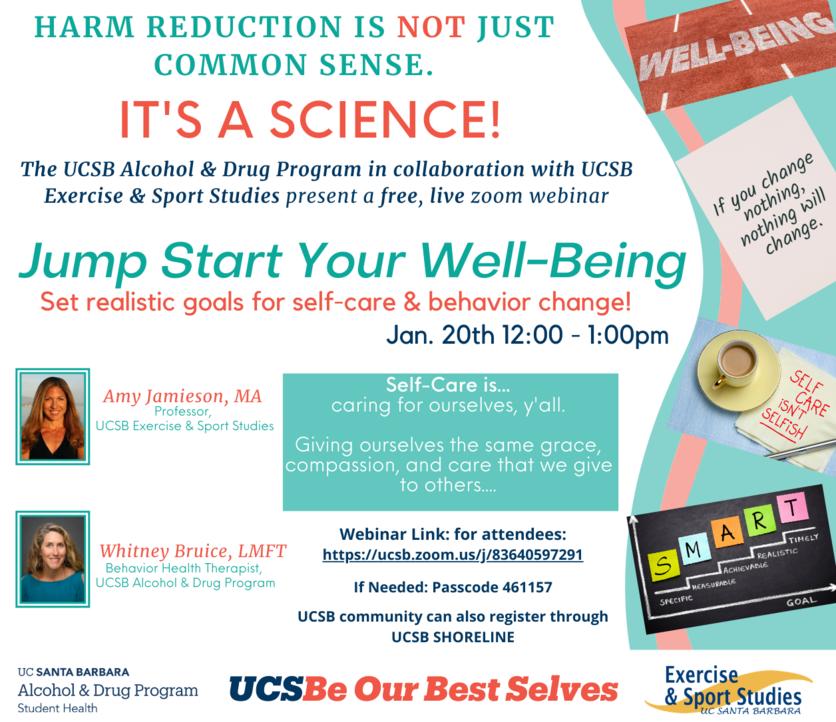 Poster promoting harm reduction workshop