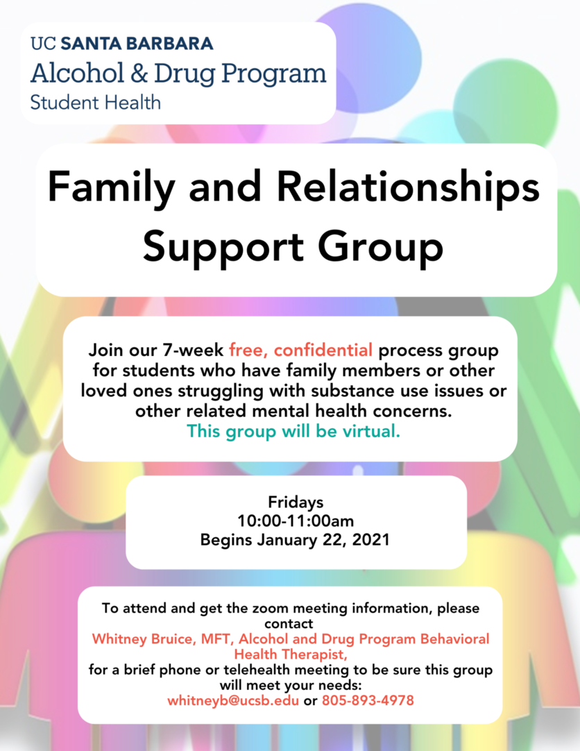Poster promoting new support group