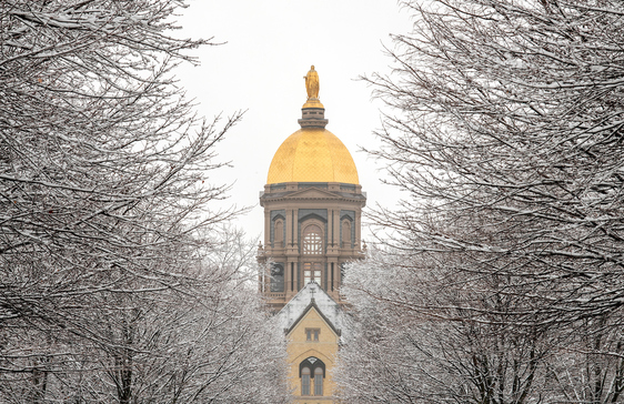 Winter shot of the main administrative building.