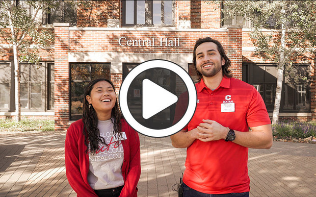 Video tour of Central College's campus with students Yuan Bank '22 and John Horner '21
