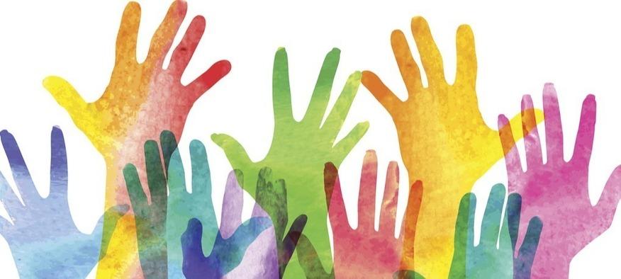 multicoloured hands