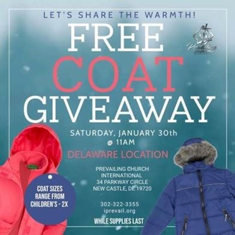 Free coat giveaway