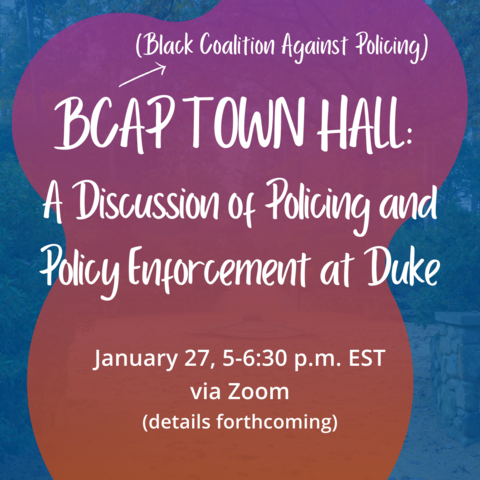 flyer for BCAP Town Hall
