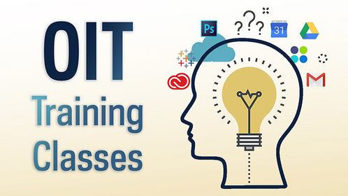 Graphic that says OIT training classes