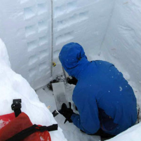 Data collection at San Juan Mountains SnowEx field site